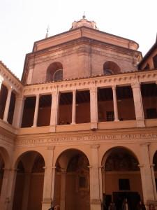 vista del chiostro del bramante Roma