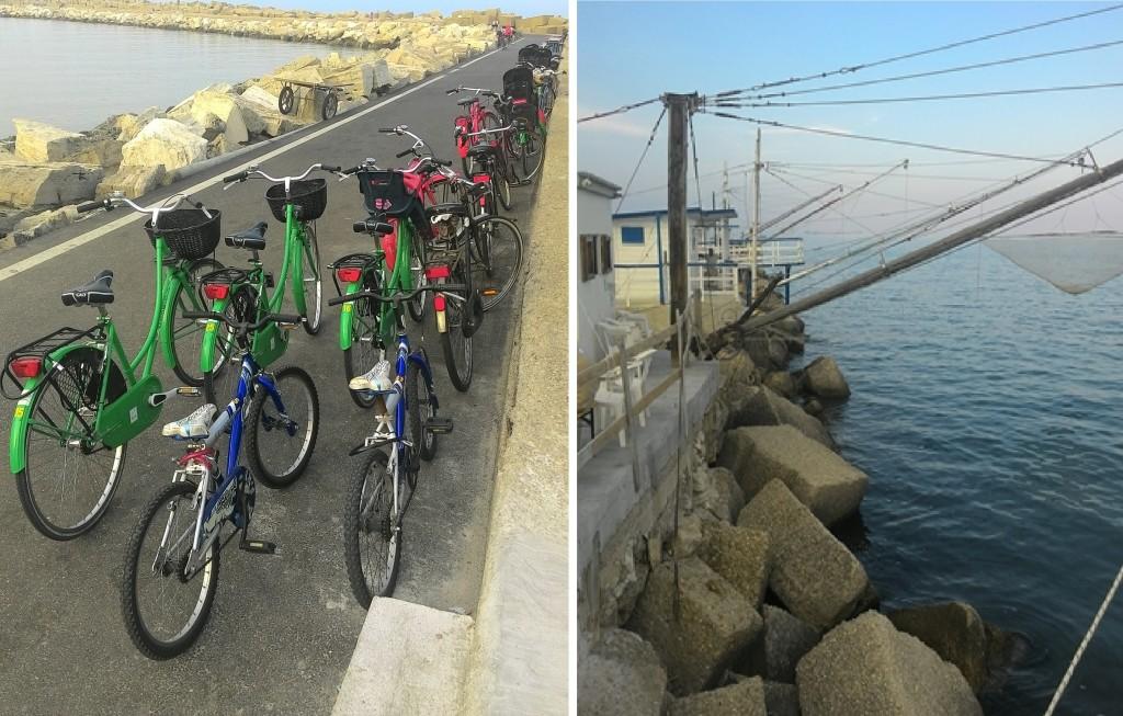 al porto in bici