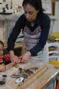 preparando biscotti